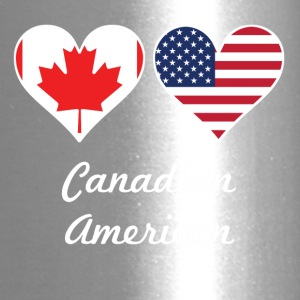 Canadian American Flag Hearts - Travel Mug