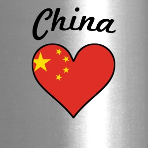 China Flag Heart - Travel Mug