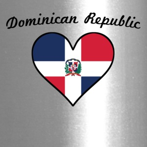 Dominican Republic Flag Heart - Travel Mug