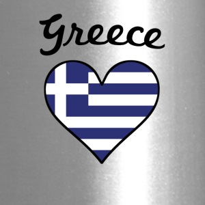 Greece Flag Heart - Travel Mug