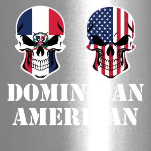 Dominican American Flag Skulls - Travel Mug
