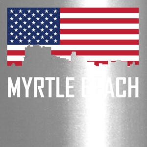Myrtle Beach South Carolina Skyline American Flag - Travel Mug