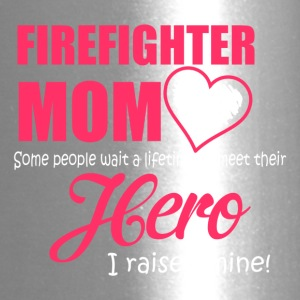 Firefighter mom - Hero Mom Is Firefighter Mom - Travel Mug