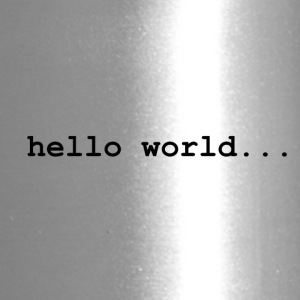 hello world.. - Travel Mug