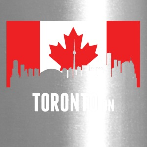 Canadian Flag Toronto Skyline - Travel Mug