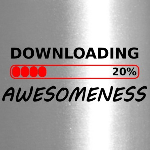 downloading awesomeness tshirt - Travel Mug