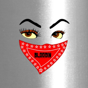 FEMALE BLOODIN FACE AND BANDANA - Travel Mug