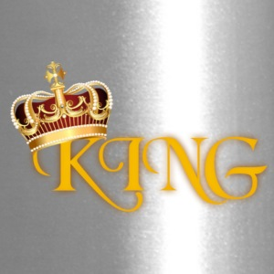 GOLD KING CROWN WITH YELLOW LETTERING - Travel Mug