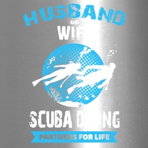 Husband And Wife Scuba Diving Partners Shirts - Travel Mug