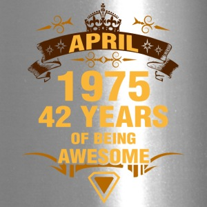 April 1975 42 Years of Being Awesome - Travel Mug