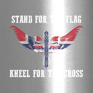 Stand for the flag Norway kneel for the cross - Travel Mug