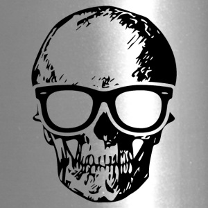 Skull with Sunglasses - Skeleton Halloween T-Shirt - Travel Mug