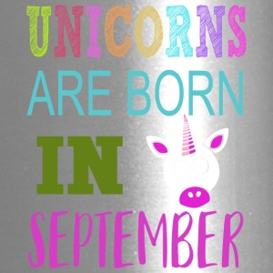Unicorn are born in September Birthday Gift - Travel Mug