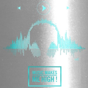 Music makes me high blue - Travel Mug