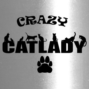 CRAZY CATLADY schwarz 2 - Travel Mug
