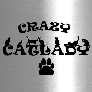CRAZY CATLADY schwarz - Travel Mug