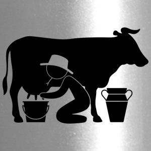 A Farmer Milking A Cow - Travel Mug