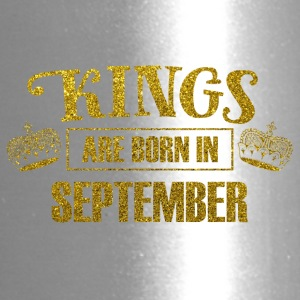 kings are born in september - gold glitter bday - Travel Mug