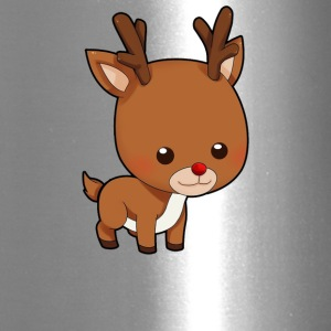 Cute Little Funny Reindeer - Travel Mug