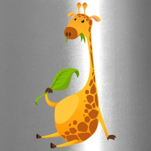 giraffe-chewing-on-a-leaf - Travel Mug
