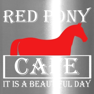 Red Pony Cafe Shirt - Travel Mug
