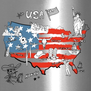 Usa map - Travel Mug