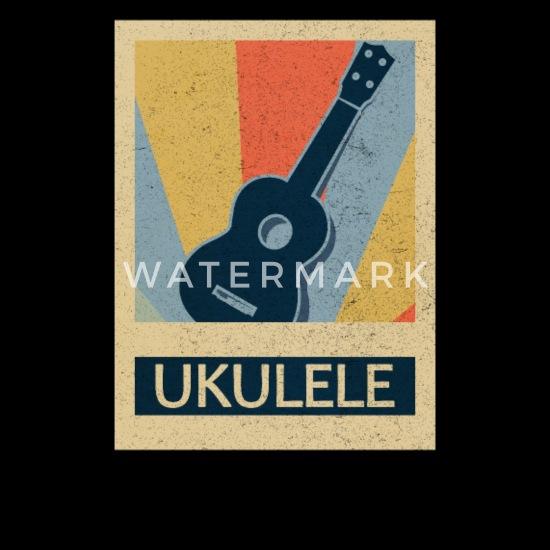 Ukulele Music Retro Vintage 70's Style Old School Snapback