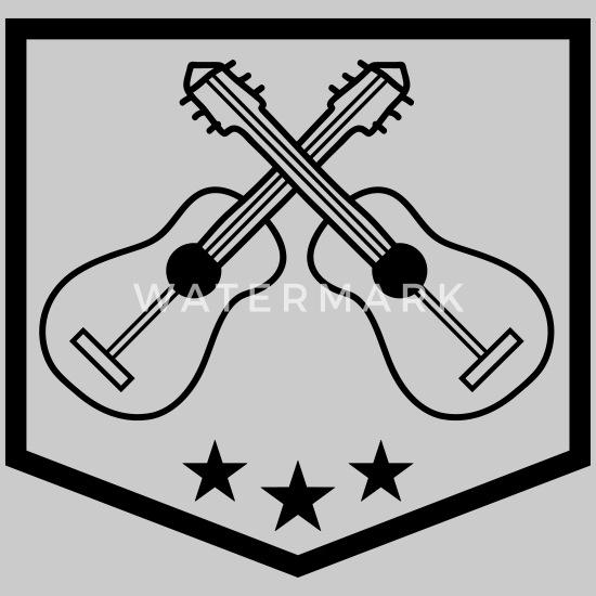 Logo Banner Shield 2 Guitars Team Band Guitar Lear Snapback Cap Spreadshirt