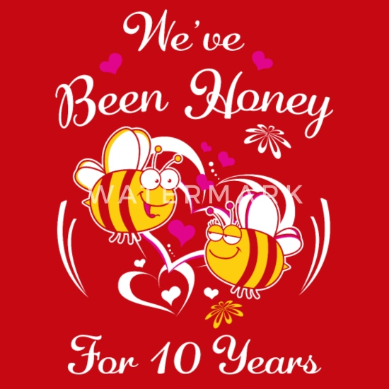 10 Year Wedding Anniversary.We Ve Been Honey For 10 Years Wedding Anniversary Snapback Cap
