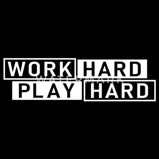 Quotes Work Hard Play Hard Snapback Cap | Spreadshirt