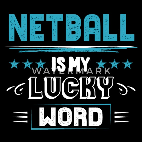 Netball Lucky Word Cool Sayings Quotes Pun Gifts Snap-back Baseball Cap -  black