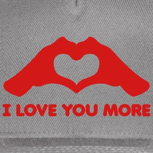 I Love You More Hands form Heart - Snap-back Baseball Cap