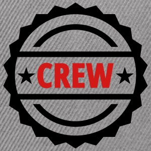 crew team button - Snap-back Baseball Cap