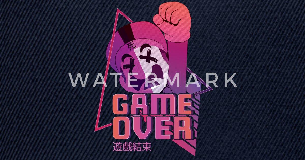 Game Over Vaporwave Gaming Snapback Cap Spreadshirt