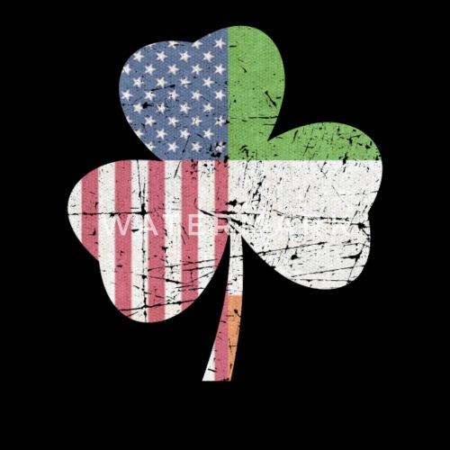2b43f4002c8 IRISH AMERICAN FLAG Ireland Shamrock St Patricks D Snapback Cap ...