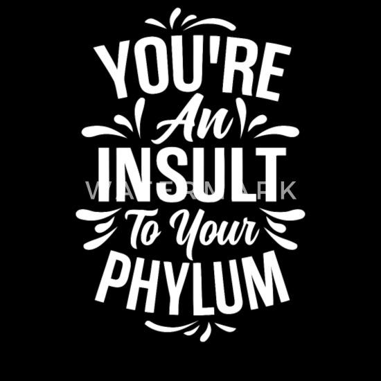 You Re An Insult To Your Phylum Snapback Cap Spreadshirt