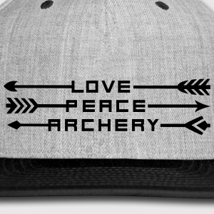 Love, Peace and Archery (Boys) - Snap-back Baseball Cap