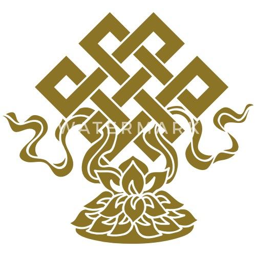 Eternal Knot Endless Lotus Tibetan Buddhism By Yuma Spreadshirt