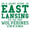 Quiet night in East Lansing - Men's Premium T-Shirt
