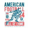 American Football Retro Vintage Distressed Design - Men's Premium T-Shirt