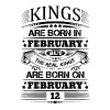 Real Kings Are Born On February 12 - Men's Premium T-Shirt