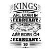 Real Kings Are Born On February 10 - Men's Premium T-Shirt