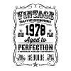 Vintage 1978 Aged to Perfection 38th Birthday gif - Men's Premium T-Shirt