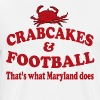 Crabcakes And Football That's What Maryland Does - Men's Premium T-Shirt
