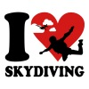 I love skydiving - Men's Premium T-Shirt