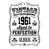 Vintage 1961 Aged to Perfection 55th Birthday gift - Men's Premium T-Shirt
