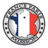 France Paris LDS Mission Flag Cutout Map - Called to Serve - Men's Premium T-Shirt