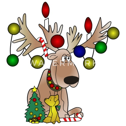 christmas moose by wowshirts spreadshirt - Christmas Moose