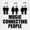 MUSIC CONNECTING PEOPLE 1.png - Men's Premium T-Shirt