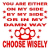 You Are Either On My Side By My Side Or In My Way  - Men's Premium T-Shirt